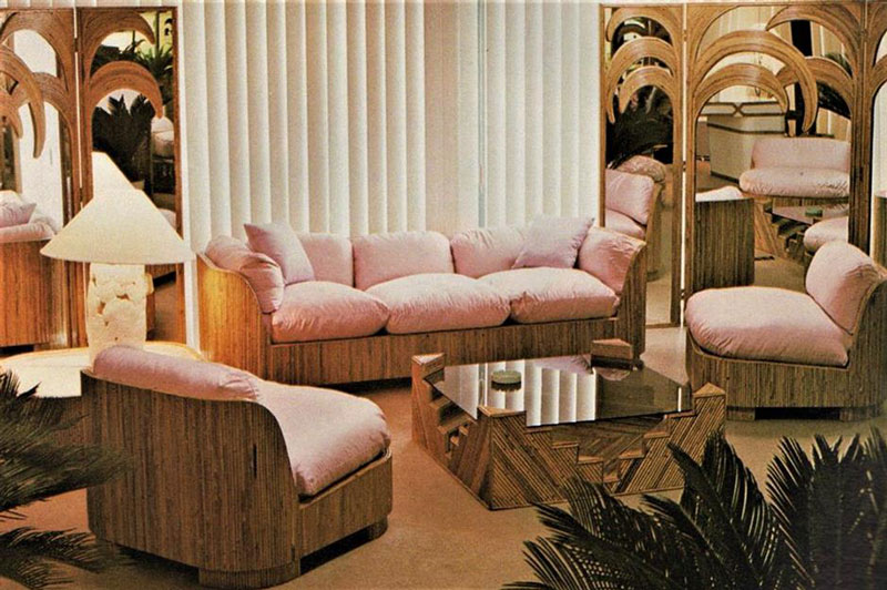 living room in the 80s