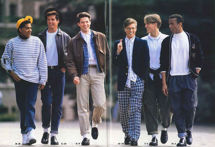 men's fashion in the 1980s